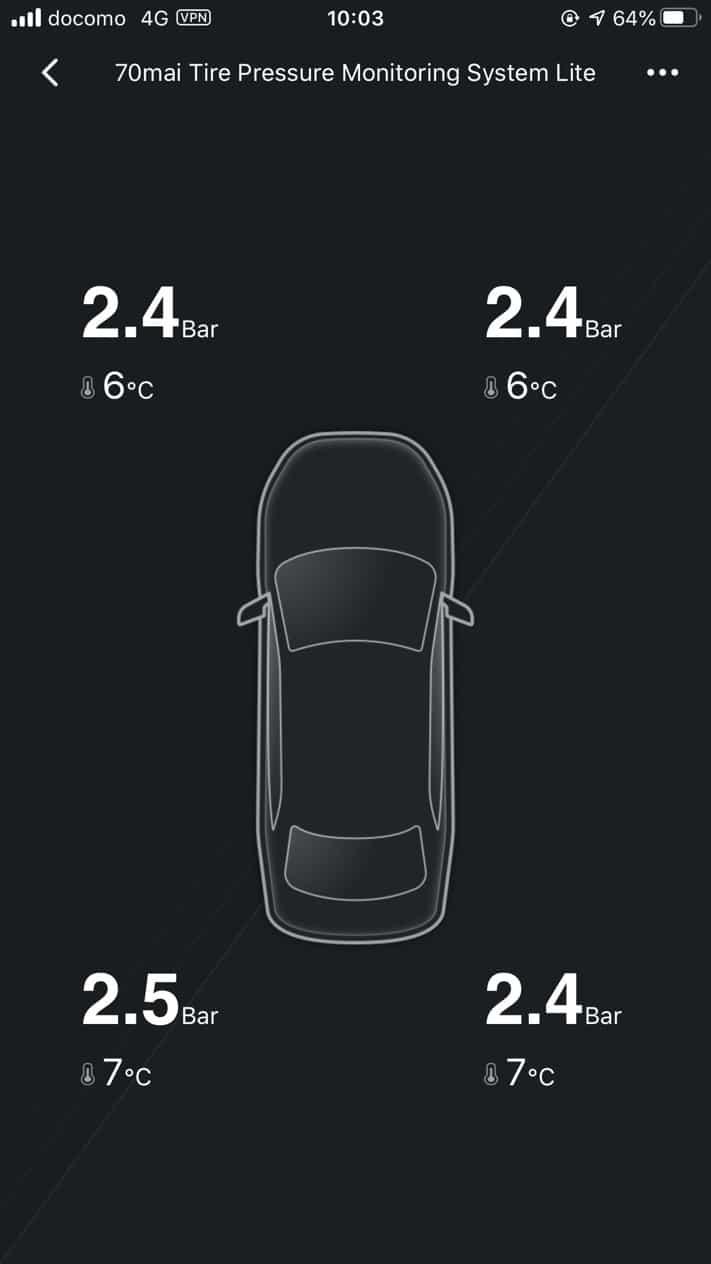 XIOMI 70mai タイヤ圧力センサー