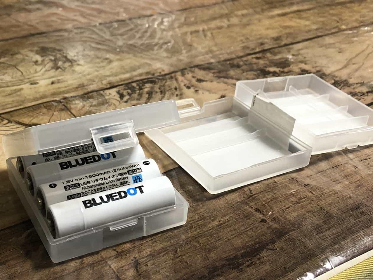 BLUEDOT単3形USB充電式リチウムイオン電池