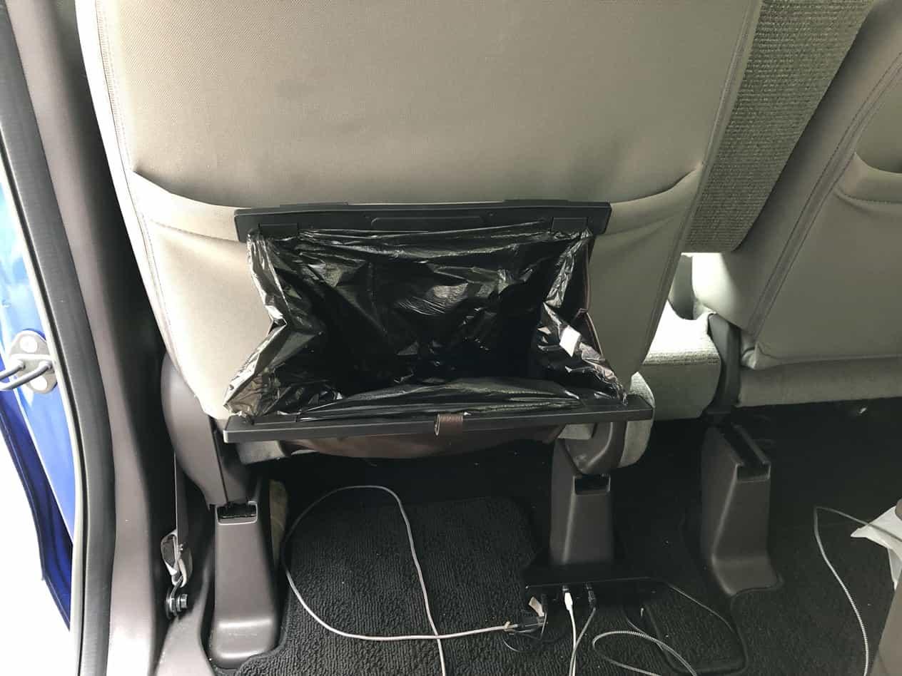 車内後部座席用ゴミ収納バッグ