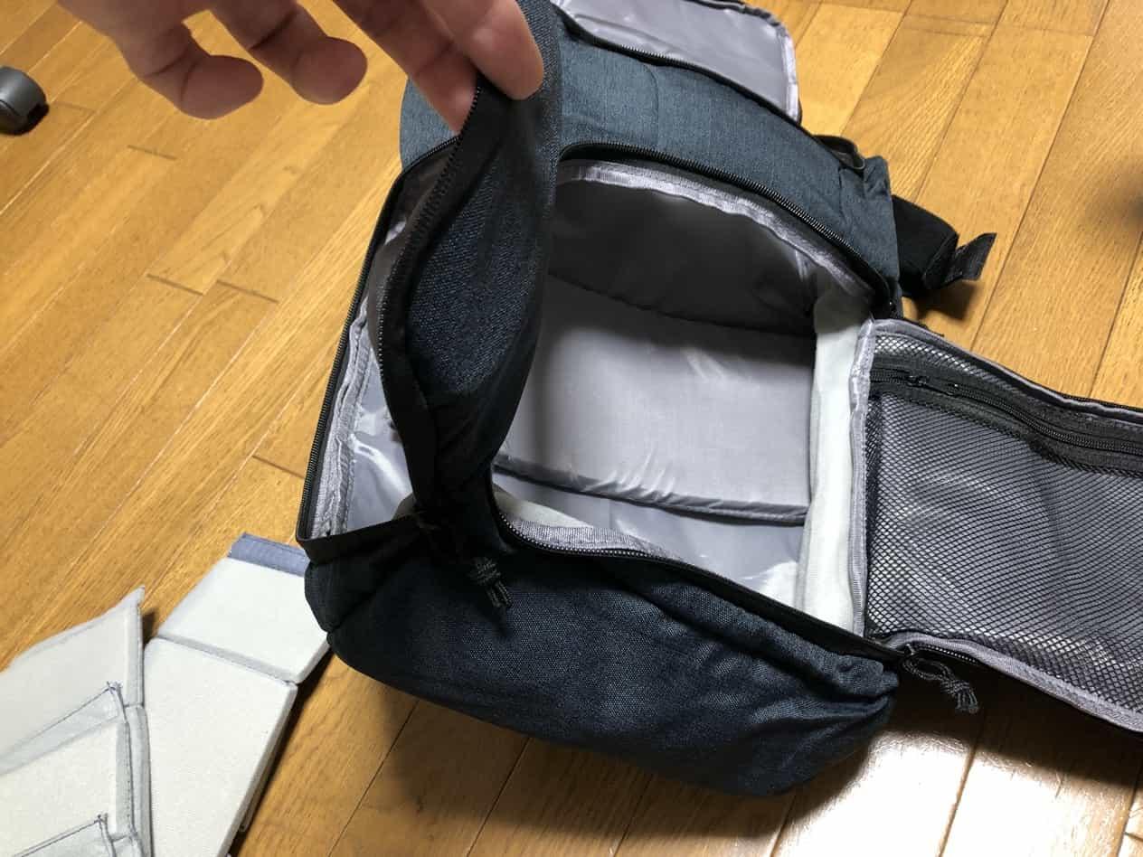 カメラリュックを通勤バッグとして使う