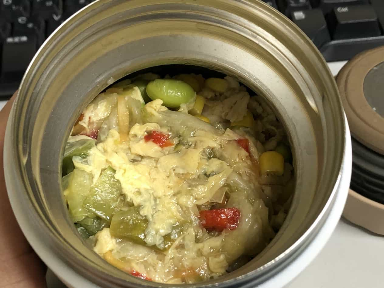 サーモスのスープジャーにオートミール粥