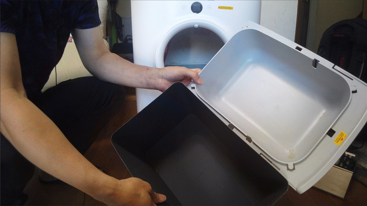 猫自動トイレ排泄ボックス容量大幅増量化