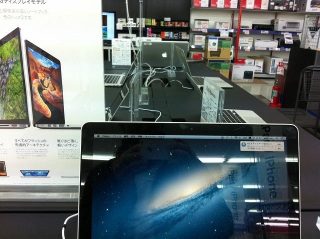Mac売り場