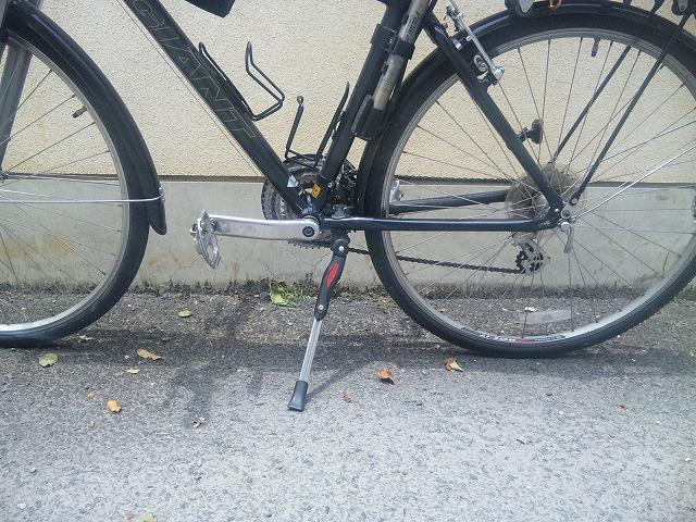 ロードバイクやクロスバイクで輪行するならスタンドはセンターに付けましょう