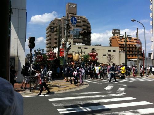 高崎市街の祭り