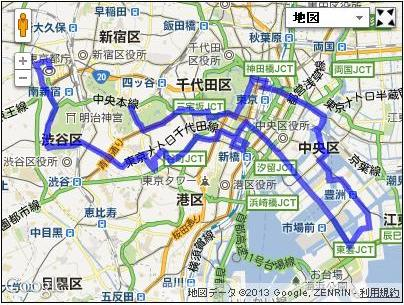 東京シティサイクリングコースのデータ作りました