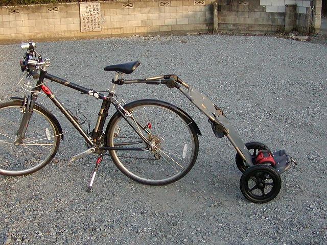 BURLEYのTRAVOYサイクルトレーラーは便利でした